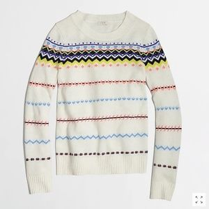 J Crew Zig Zag Fair Isle Sweater Small S